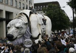 Polar bear in London