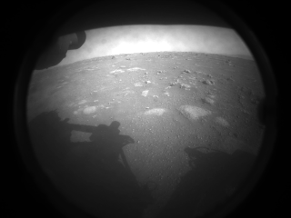 First image from Perseverance after landing on Mars